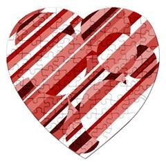 Orange pattern Jigsaw Puzzle (Heart)