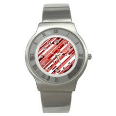 Orange pattern Stainless Steel Watch