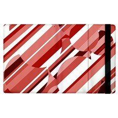 Orange pattern Apple iPad 3/4 Flip Case