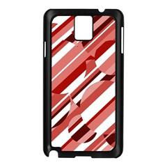 Orange pattern Samsung Galaxy Note 3 N9005 Case (Black)