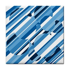 Blue Pattern Tile Coasters