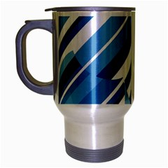 Blue pattern Travel Mug (Silver Gray)