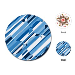 Blue pattern Playing Cards (Round)