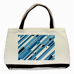 Blue pattern Basic Tote Bag