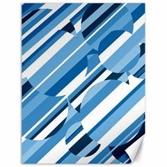 Blue pattern Canvas 18  x 24