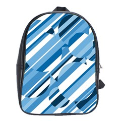 Blue pattern School Bags(Large)