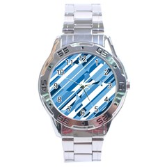 Blue pattern Stainless Steel Analogue Watch