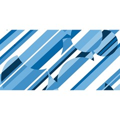 Blue pattern YOU ARE INVITED 3D Greeting Card (8x4)