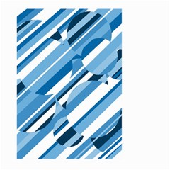 Blue pattern Large Garden Flag (Two Sides)