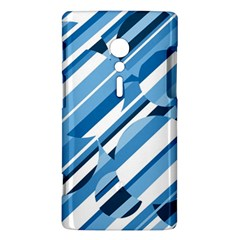 Blue pattern Sony Xperia ion