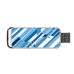 Blue pattern Portable USB Flash (One Side)