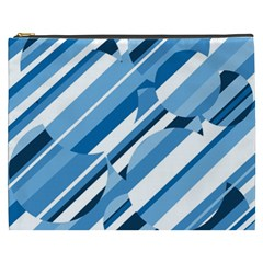 Blue pattern Cosmetic Bag (XXXL)