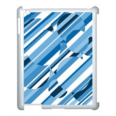 Blue pattern Apple iPad 3/4 Case (White)
