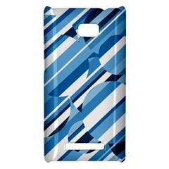Blue pattern HTC 8X