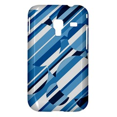 Blue pattern Samsung Galaxy Ace Plus S7500 Hardshell Case