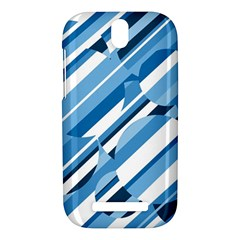 Blue pattern HTC One SV Hardshell Case