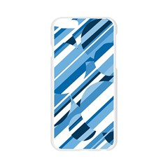 Blue pattern Apple Seamless iPhone 6/6S Case (Transparent)
