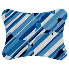 Blue pattern Jigsaw Puzzle Photo Stand (Bow)
