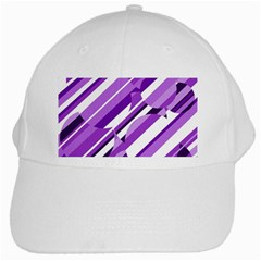 Purple pattern White Cap