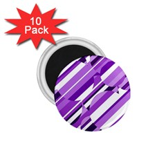 Purple pattern 1.75  Magnets (10 pack)