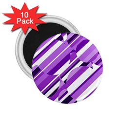 Purple pattern 2.25  Magnets (10 pack)
