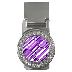 Purple pattern Money Clips (CZ)