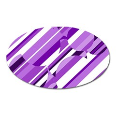 Purple pattern Oval Magnet