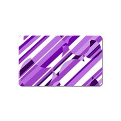 Purple pattern Magnet (Name Card)