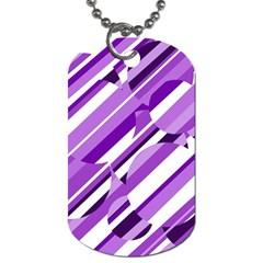 Purple pattern Dog Tag (One Side)