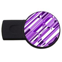 Purple pattern USB Flash Drive Round (2 GB)