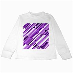 Purple pattern Kids Long Sleeve T-Shirts