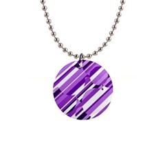 Purple pattern Button Necklaces