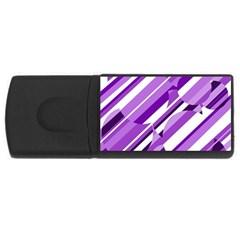Purple pattern USB Flash Drive Rectangular (4 GB)