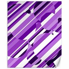 Purple pattern Canvas 11  x 14