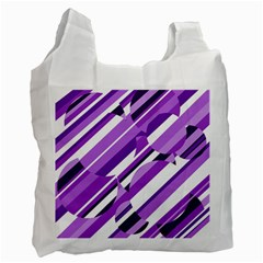 Purple pattern Recycle Bag (Two Side)