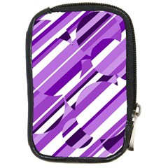 Purple pattern Compact Camera Cases