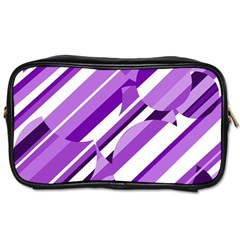 Purple pattern Toiletries Bags 2-Side