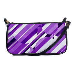Purple pattern Shoulder Clutch Bags