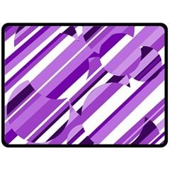 Purple pattern Fleece Blanket (Large)