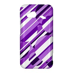 Purple pattern HTC Droid Incredible 4G LTE Hardshell Case