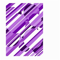 Purple pattern Large Garden Flag (Two Sides)