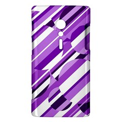 Purple pattern Sony Xperia ion
