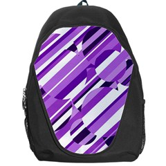 Purple pattern Backpack Bag