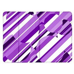 Purple pattern Kindle Fire (1st Gen) Flip Case