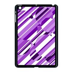 Purple pattern Apple iPad Mini Case (Black)