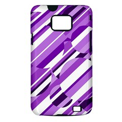 Purple pattern Samsung Galaxy S II i9100 Hardshell Case (PC+Silicone)