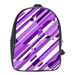 Purple pattern School Bags (XL)