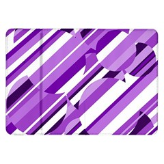 Purple pattern Samsung Galaxy Tab 8.9  P7300 Flip Case