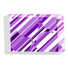 Purple pattern 4 x 6  Acrylic Photo Blocks