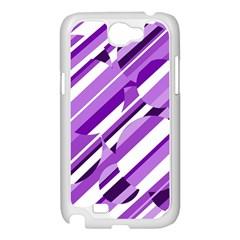 Purple pattern Samsung Galaxy Note 2 Case (White)